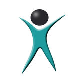 Simbolo astratto di logo dell'uomo Immagine Stock Libera da Diritti