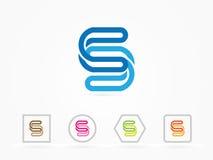 Simbolo astratto di progettazione di logo di vettore della lettera s Immagini Stock