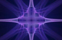 Simbolo astratto lilla dello spazio sotto forma di stella con quattro raggi per uso in computer grafica e progettazione nei gioch Immagini Stock