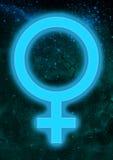 Simbolo astrologico del Venere immagini stock libere da diritti