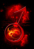 Simbolo astrologico di Marte Immagini Stock