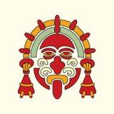 Simbolo azteco del guerriero Fotografia Stock