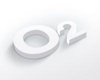 Simbolo in bianco dell'ossigeno Fotografia Stock Libera da Diritti