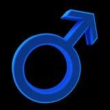 Simbolo blu dell'uomo Fotografia Stock Libera da Diritti