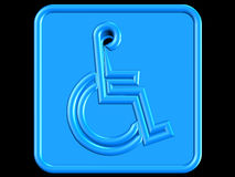 Simbolo blu di handicap Fotografia Stock