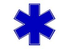 Simbolo blu semplice della stella di emergenza Fotografia Stock Libera da Diritti