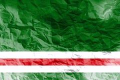 Simbolo ceceno dell'illustrazione della bandiera 3D della repubblica Fotografia Stock Libera da Diritti