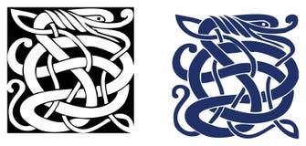 Simbolo celtico - tatuaggio o illustrazione Immagine Stock