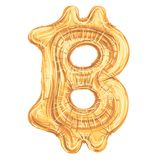 Simbolo come pallone, illustrazione di Bitcoin di vettore Fotografia Stock Libera da Diritti