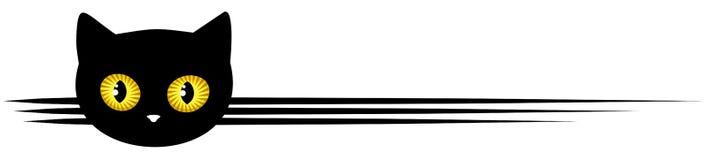 Simbolo con il gatto nero Immagine Stock