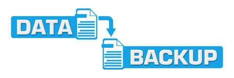 Simbolo concentrare blu del backup dei dati Immagini Stock Libere da Diritti