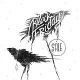 Simbolo creativo di Black Friday Illustrazione di Stock