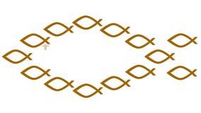 Simbolo cristiano dei pesci Fotografia Stock Libera da Diritti