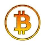 Simbolo d'annata di Bitcoin isolato Fotografia Stock