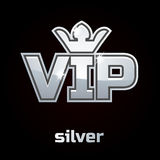 Simbolo d'argento di vettore di VIP, insieme 2 Immagine Stock Libera da Diritti