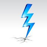 Simbolo d'avvertimento di elettricità. Fotografia Stock