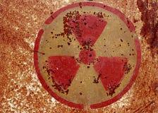 Simbolo d'avvertimento nucleare Fotografia Stock