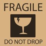 Simbolo d'imballaggio materiale fragile o fragile Immagini Stock Libere da Diritti