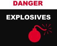Simbolo degli esplosivi Fotografia Stock