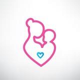 Simbolo del bambino e della madre Immagini Stock