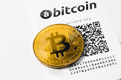 simbolo del bitcoin Immagini Stock