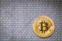 Simbolo del bitcoin dell'ultimo della moneta di oro di logo di Bitcoin Immagini Stock Libere da Diritti