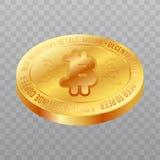 Simbolo del bitcoin di Cryptocurrency isolato su fondo trasparente Fotografie Stock