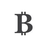 simbolo del bitcoin icona, illustrazione solida di logo, pittogramma Fotografie Stock