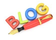 Simbolo del blog Immagine Stock