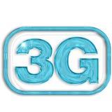 simbolo del blu 3G illustrazione di stock