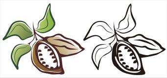 Simbolo del cacao Immagine Stock Libera da Diritti