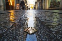 Simbolo del camino de Santiago Fotografia Stock Libera da Diritti