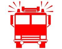 Simbolo del camion dei vigili del fuoco Fotografia Stock