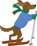 Simbolo 2018 del cane giallo Cane di vettore del fumetto Immagini Stock Libere da Diritti
