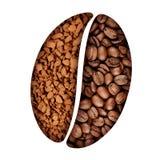 Simbolo del chicco di caffè Fotografie Stock