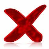 Simbolo del contrassegno della croce rossa Fotografie Stock Libere da Diritti