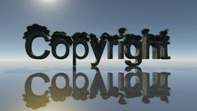 Simbolo del copyright Immagini Stock Libere da Diritti