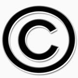Simbolo del copyright Fotografie Stock Libere da Diritti