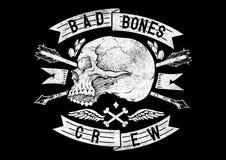 Simbolo del cranio Fotografie Stock Libere da Diritti