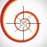 Simbolo del crosshair Immagine Stock Libera da Diritti