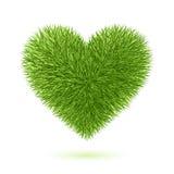 Simbolo del cuore dell'erba Fotografia Stock