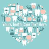 Simbolo del cuore di cure odontoiatriche Fotografia Stock