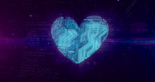 Simbolo del cuore di Digital illustrazione vettoriale