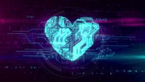 Simbolo del cuore di Digital royalty illustrazione gratis