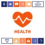 Simbolo del cuore - logo di semitono Fotografie Stock
