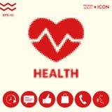 Simbolo del cuore - logo di semitono Immagini Stock Libere da Diritti