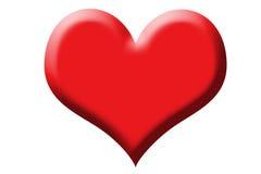 Simbolo del cuore per il giorno del biglietto di S. Valentino Fotografia Stock