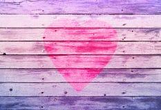 Simbolo del cuore sui bordi Fotografia Stock Libera da Diritti