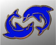 simbolo del delfino 3D Immagini Stock Libere da Diritti
