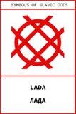 Simbolo del dio antico dello slavo di LADA Immagini Stock